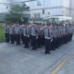 驻乐清供电公司安保队员的培训学习及反恐演练工作