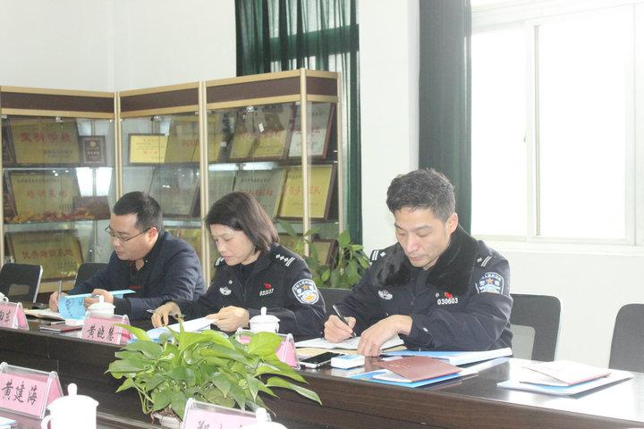 温州市公安局治安支队领导莅临温州市保安职业学校、温州国泰保安服务有限公司调研检查指导工作